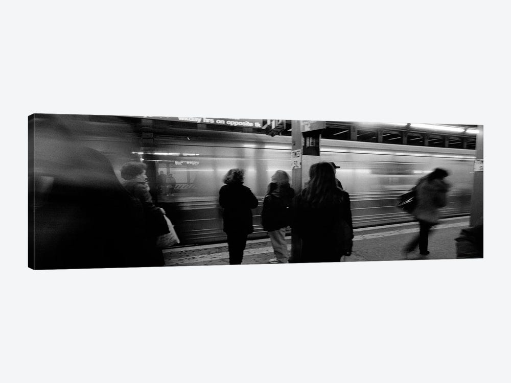 Blurred Motion View, Times Square Subway Station, New York City, New York, USA by Panoramic Images 1-piece Canvas Art