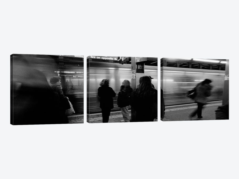 Blurred Motion View, Times Square Subway Station, New York City, New York, USA by Panoramic Images 3-piece Canvas Art