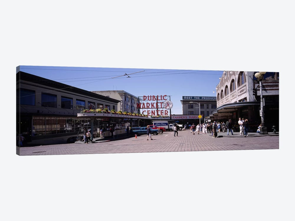 Group of people in a market, Pike Place Market, Seattle, Washington State, USA by Panoramic Images 1-piece Art Print
