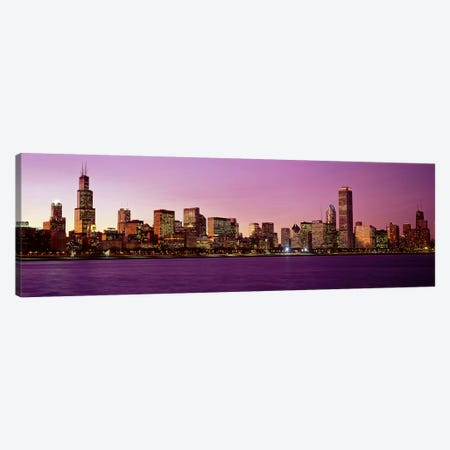 Skyline At SunsetChicago, Illinois, USA Canvas Print #PIM3852} by Panoramic Images Canvas Art Print