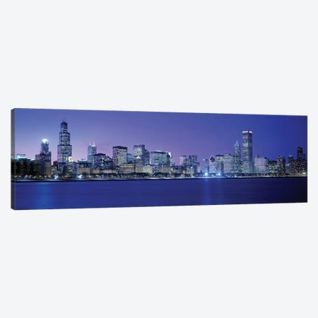 Downtown Skyline At Dusk, Chicago, Cook County, Illinois, USA Canvas Print #PIM3853} by Panoramic Images Canvas Print