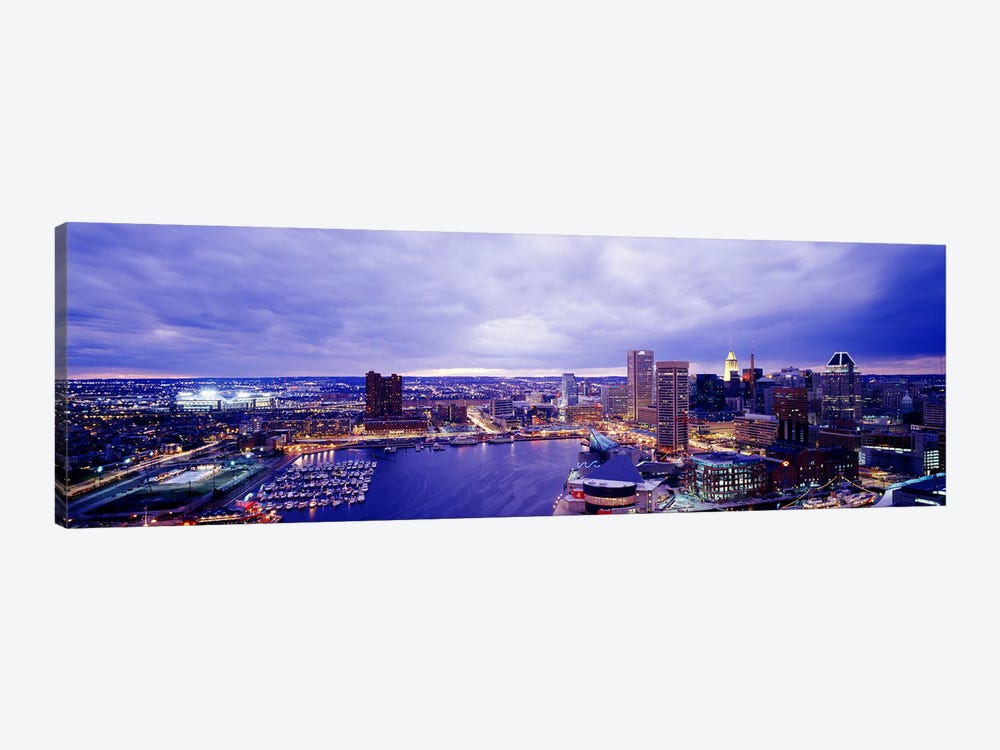 USA, Maryland, Baltimore, cityscape 1-piece Canvas Art Print