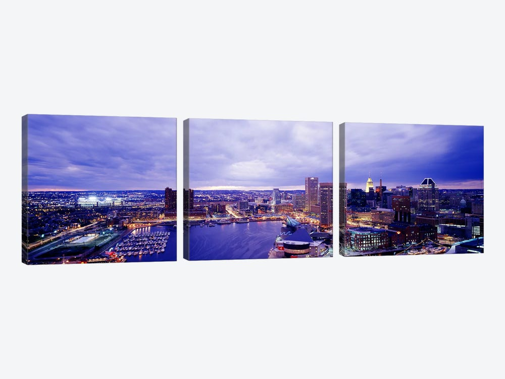 USA, Maryland, Baltimore, cityscape 3-piece Canvas Art Print