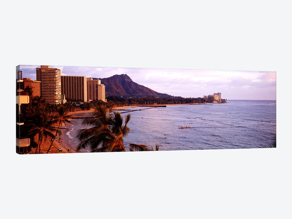 Waikiki Beach, Oahu, Hawaii, USA by Panoramic Images 1-piece Canvas Artwork