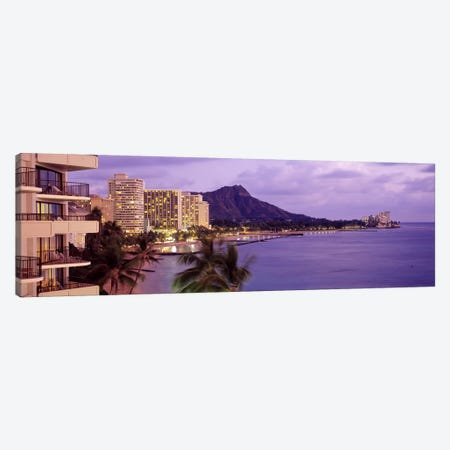 Waikiki Beach, Oahu, Hawaii, USA #2 Canvas Print #PIM3859} by Panoramic Images Art Print