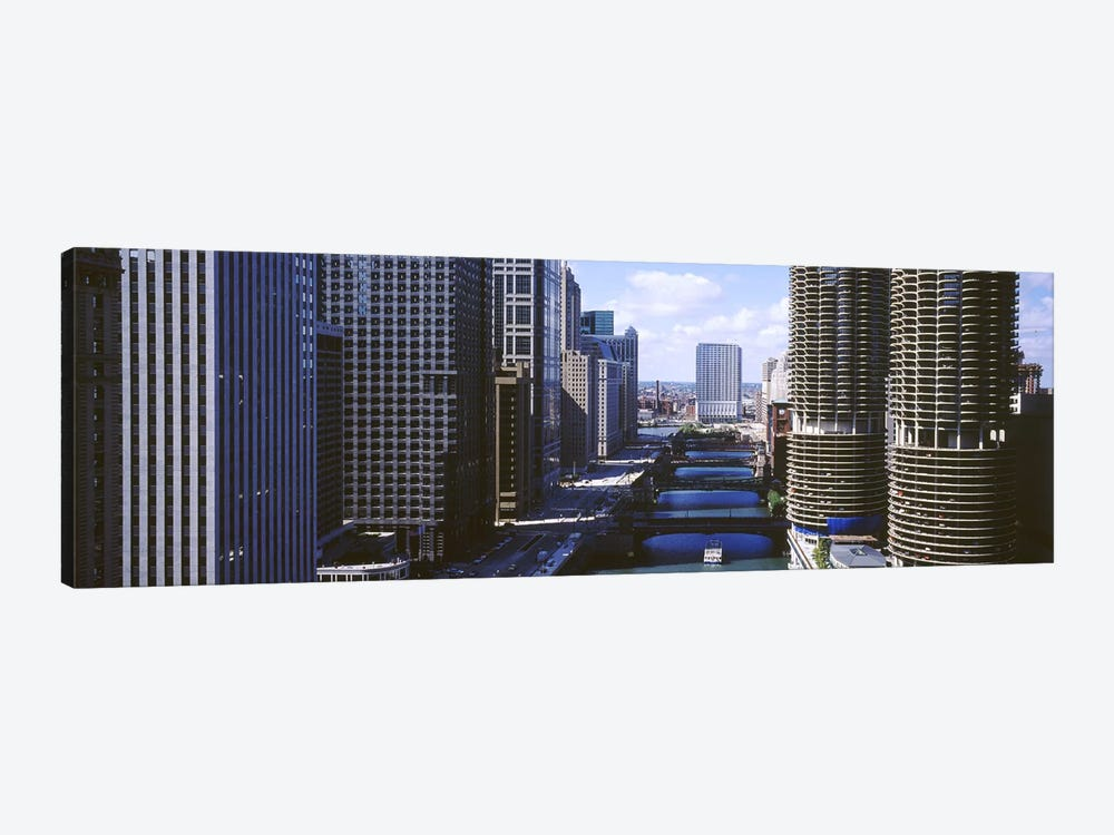 Architecture Along The Chicago River, Chicago, Illinois, USA by Panoramic Images 1-piece Canvas Wall Art
