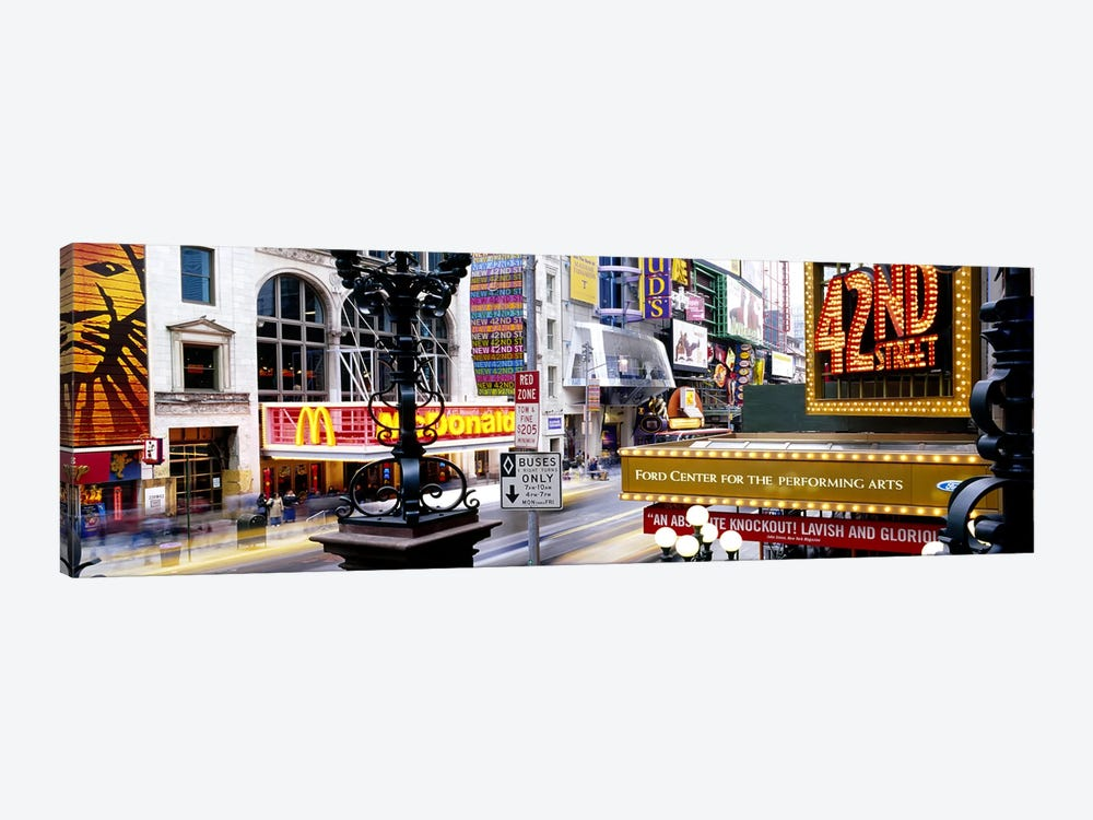 Road running through a market, 42nd Street, Manhattan, New York City, New York State, USA by Panoramic Images 1-piece Canvas Artwork