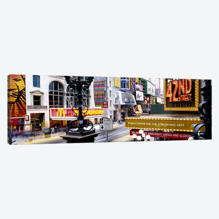 Road running through a market, 42nd Street, Manhattan, New York City, New York State, USA Canvas Print #PIM3865} by Panoramic Images Canvas Art Print
