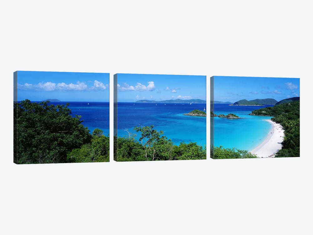 Trunk Bay Virgin Islands National Park St. John US Virgin Islands by Panoramic Images 3-piece Art Print