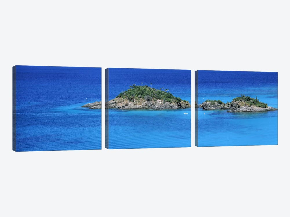 Trunk Bay Virgin Islands National Park St. John US Virgin Islands by Panoramic Images 3-piece Canvas Artwork