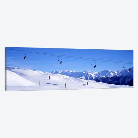 Ski Lift in Mountains Switzerland Canvas Print #PIM3870} by Panoramic Images Canvas Print