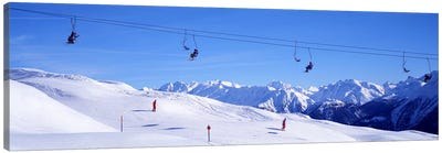 Ski Lift in Mountains Switzerland Canvas Art Print