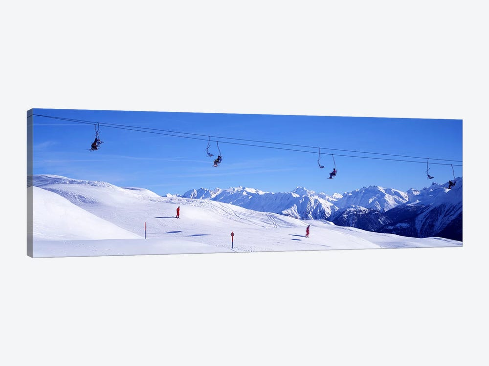 Ski Lift in Mountains Switzerland by Panoramic Images 1-piece Canvas Art