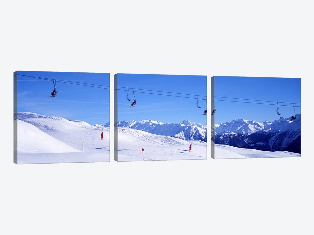Ski Lift in Mountains Switzerland by Panoramic Images 3-piece Canvas Art