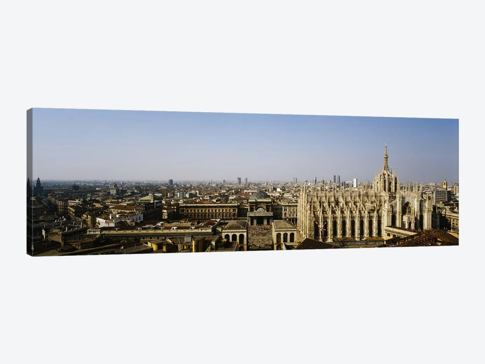 Aerial view of a cathedral in a city, Duomo di Milano, Lombardia, Italy 1-piece Canvas Wall Art