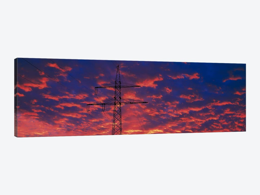 Power lines at sunset Germany by Panoramic Images 1-piece Canvas Art Print