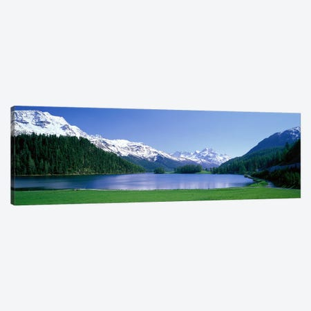 Lake Silverplaner St Moritz Switzerland Canvas Print #PIM3882} by Panoramic Images Canvas Artwork