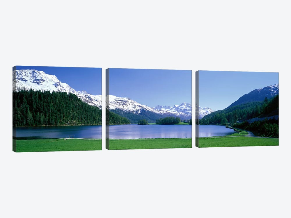Lake Silverplaner St Moritz Switzerland by Panoramic Images 3-piece Canvas Print