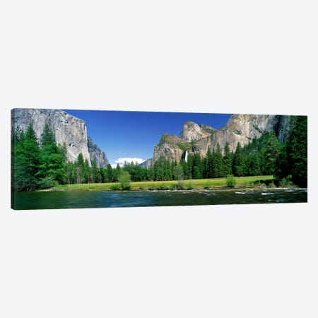 Bridalveil Fall, Yosemite Valley, Yosemite National Park, California, USA Canvas Print #PIM3885} by Panoramic Images Canvas Art Print