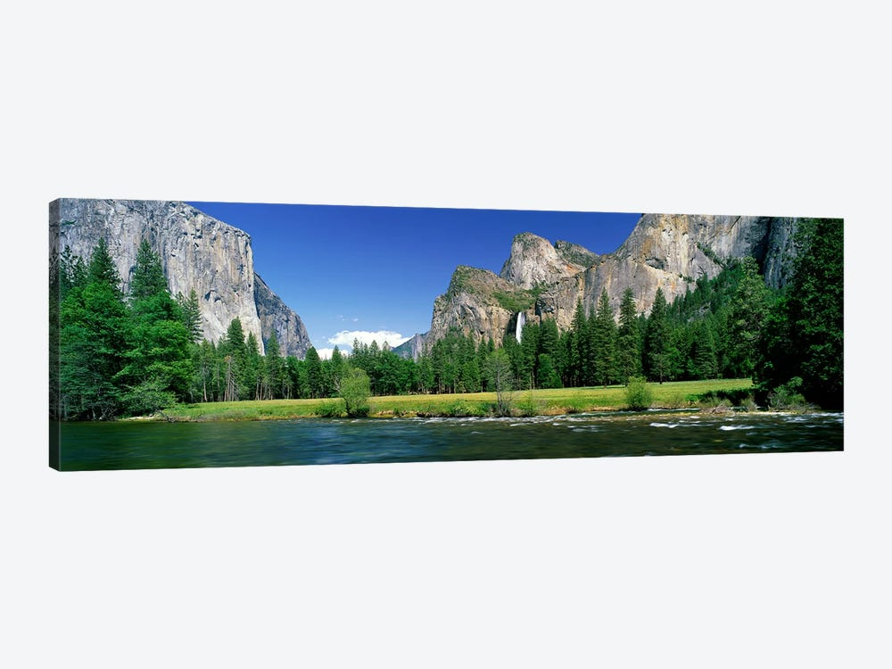 Bridalveil Fall, Yosemite Valley, Yosemite National Park, California, USA by Panoramic Images 1-piece Canvas Artwork