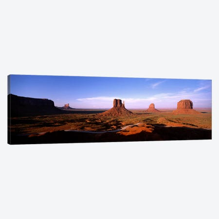 Daytime Shadows Near The Mittens & Merrick Butte, Monument Valley, Navajo Nation, Arizona, USA Canvas Print #PIM3887} by Panoramic Images Canvas Print