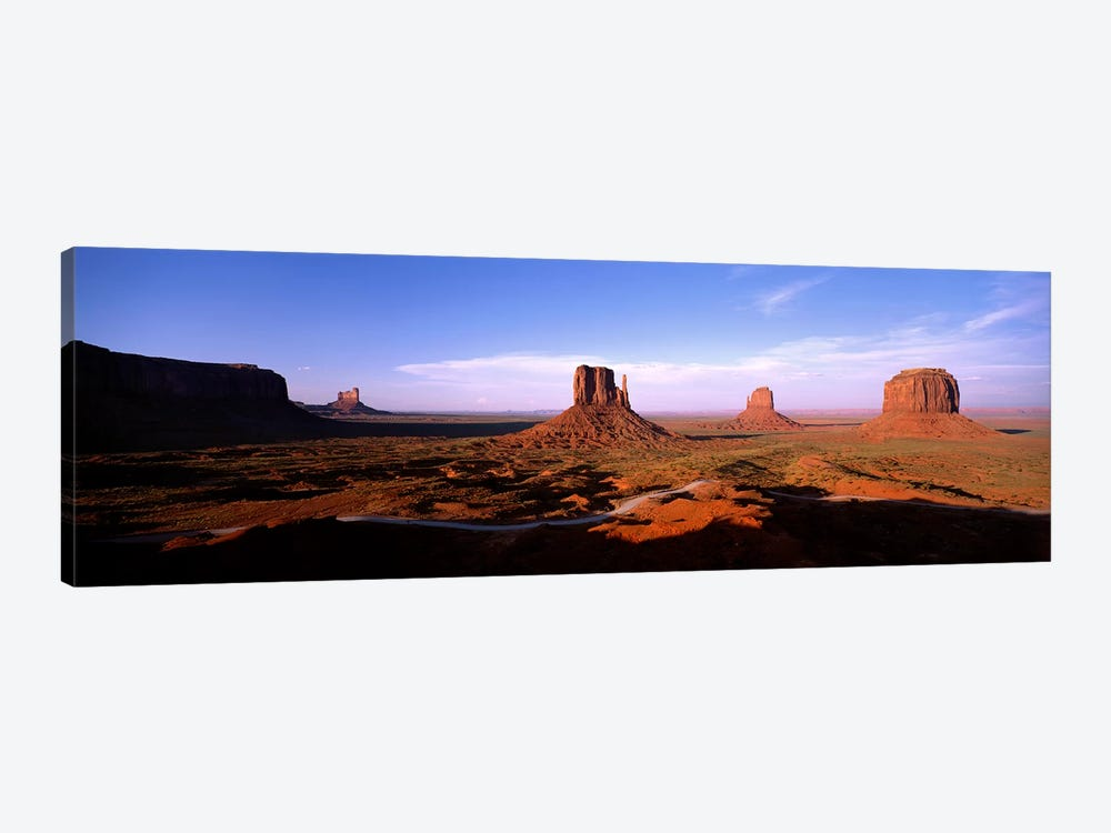 Daytime Shadows Near The Mittens & Merrick Butte, Monument Valley, Navajo Nation, Arizona, USA by Panoramic Images 1-piece Canvas Artwork