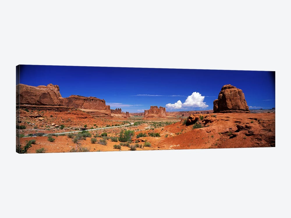 Entrance View, Arches National Park, Grand County, Utah, USA by Panoramic Images 1-piece Canvas Artwork