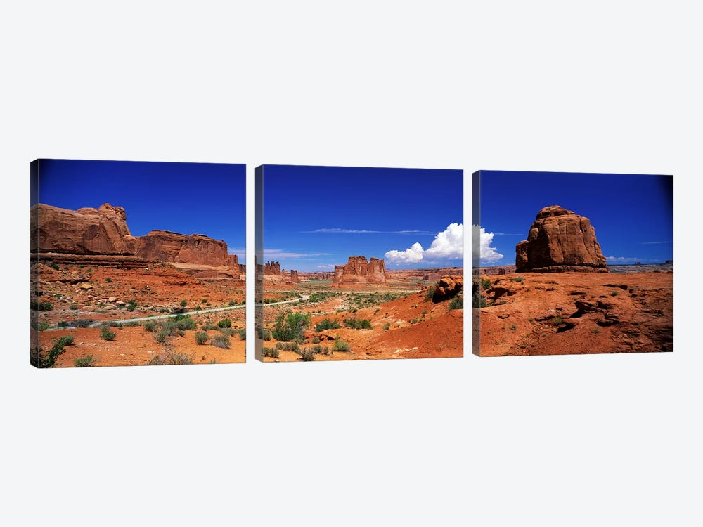 Entrance View, Arches National Park, Grand County, Utah, USA by Panoramic Images 3-piece Canvas Artwork