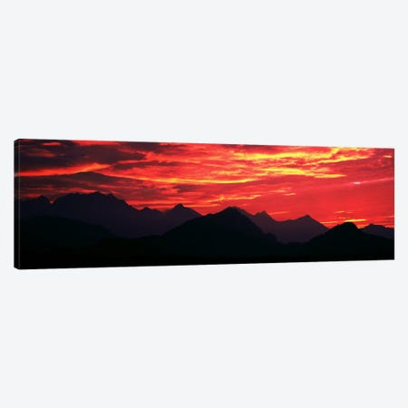 Sundown Austrian Mts South Bavaria Germany Canvas Print #PIM388} by Panoramic Images Canvas Print