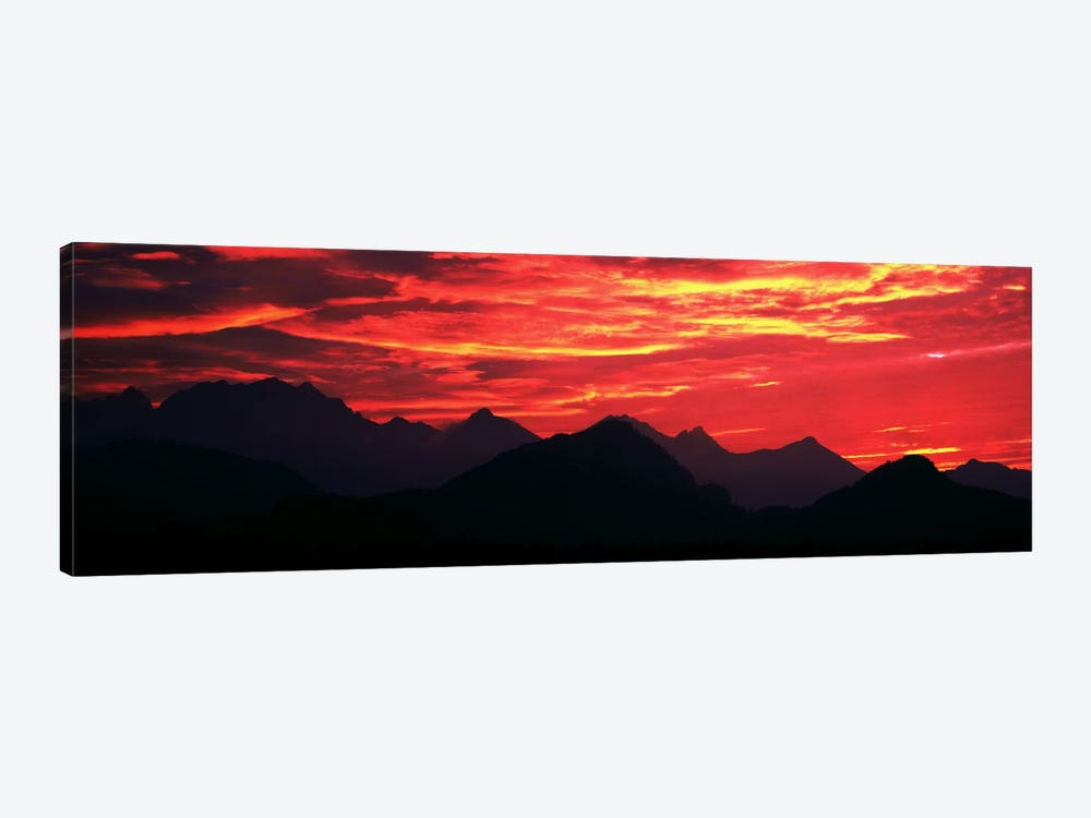 Sundown Austrian Mts South Bavaria Germany by Panoramic Images 1-piece Canvas Artwork