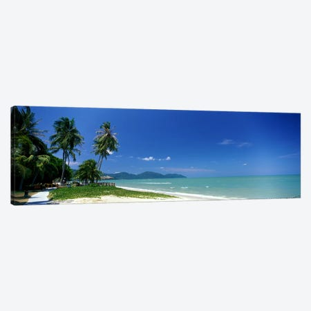 Tropical Beach Penang Malaysia Canvas Print #PIM3894} by Panoramic Images Canvas Wall Art