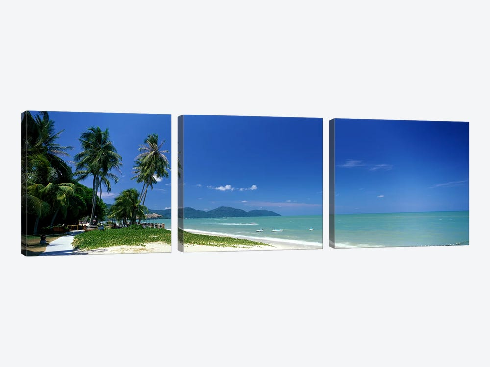 Tropical Beach Penang Malaysia by Panoramic Images 3-piece Canvas Artwork