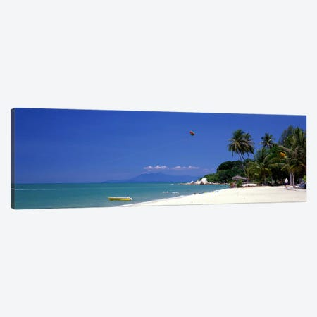 White Sand Beach Penang Malaysia Canvas Print #PIM3895} by Panoramic Images Canvas Wall Art