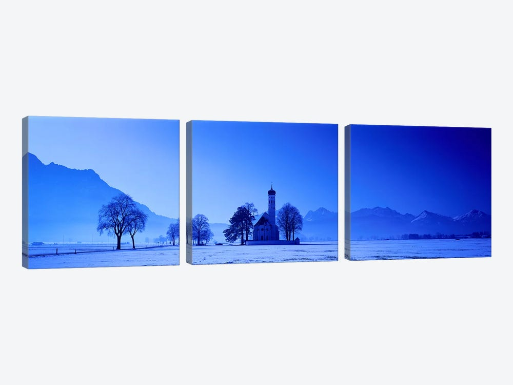 St. Coloman Church Schwangau Germany by Panoramic Images 3-piece Canvas Print