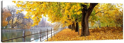 Autumn Scene Munich Germany Canvas Art Print
