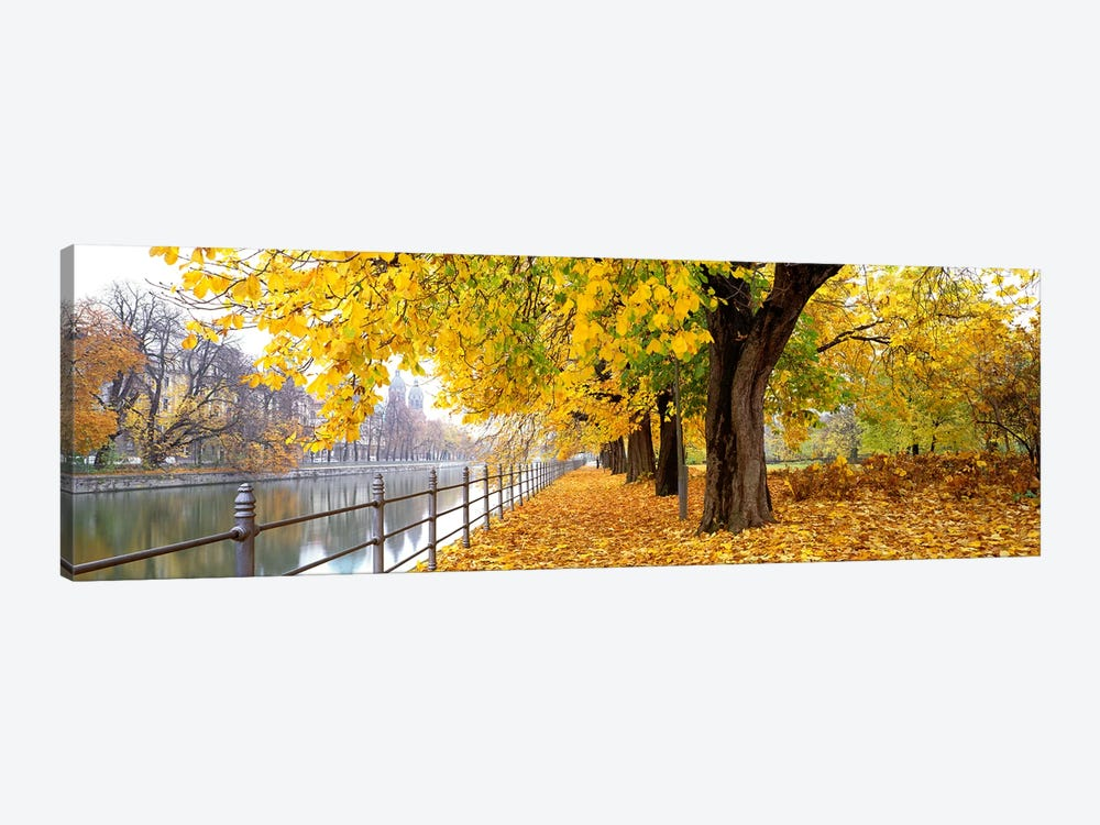 Autumn Scene Munich Germany 1-piece Canvas Print