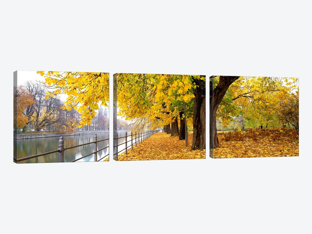 Autumn Scene Munich Germany by Panoramic Images 3-piece Canvas Print