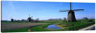 Windmills near Alkmaar Holland (Netherlands) Canvas Print #PIM3904
