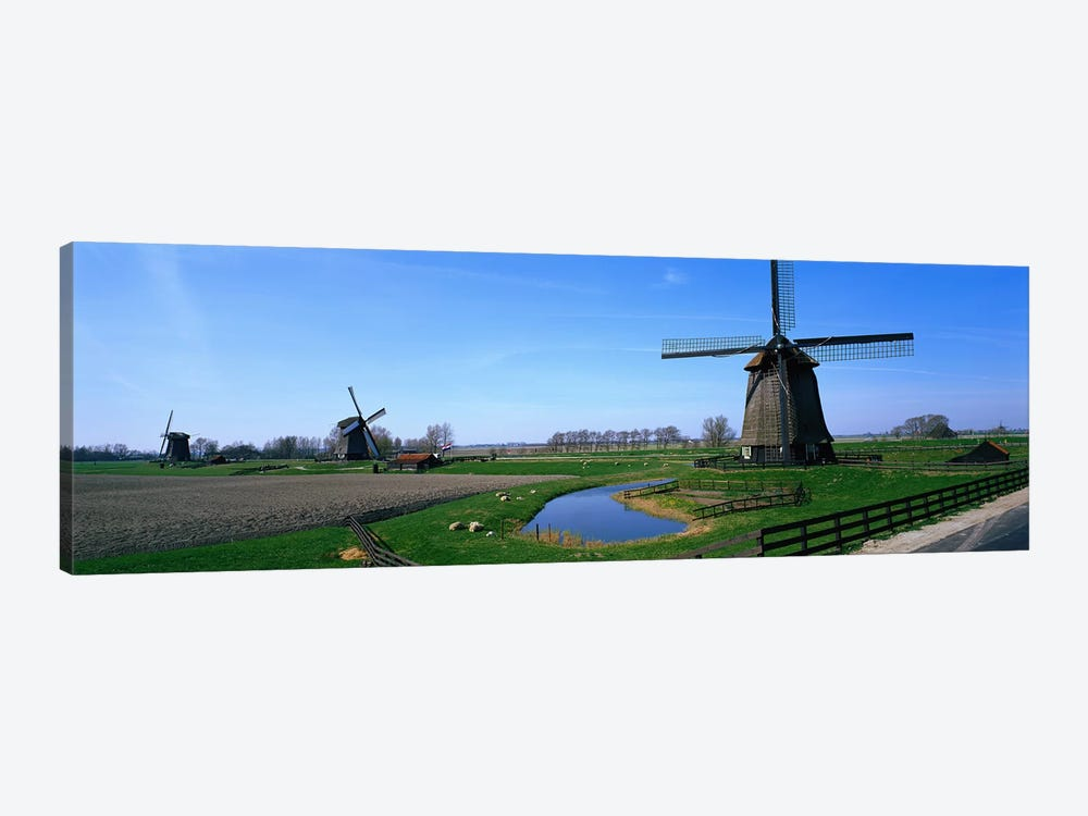 Windmills near Alkmaar Holland (Netherlands) by Panoramic Images 1-piece Canvas Art