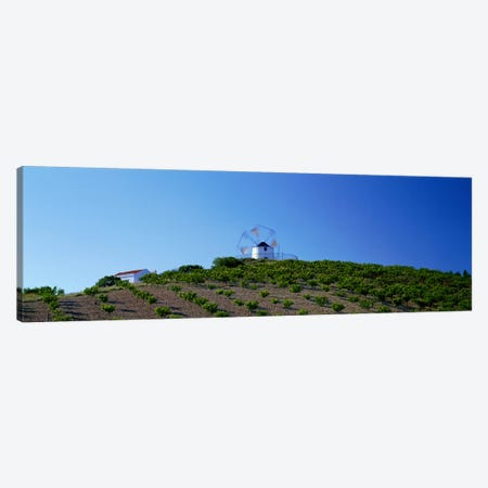 Windmill Obidos Portugal Canvas Print #PIM3905} by Panoramic Images Canvas Wall Art
