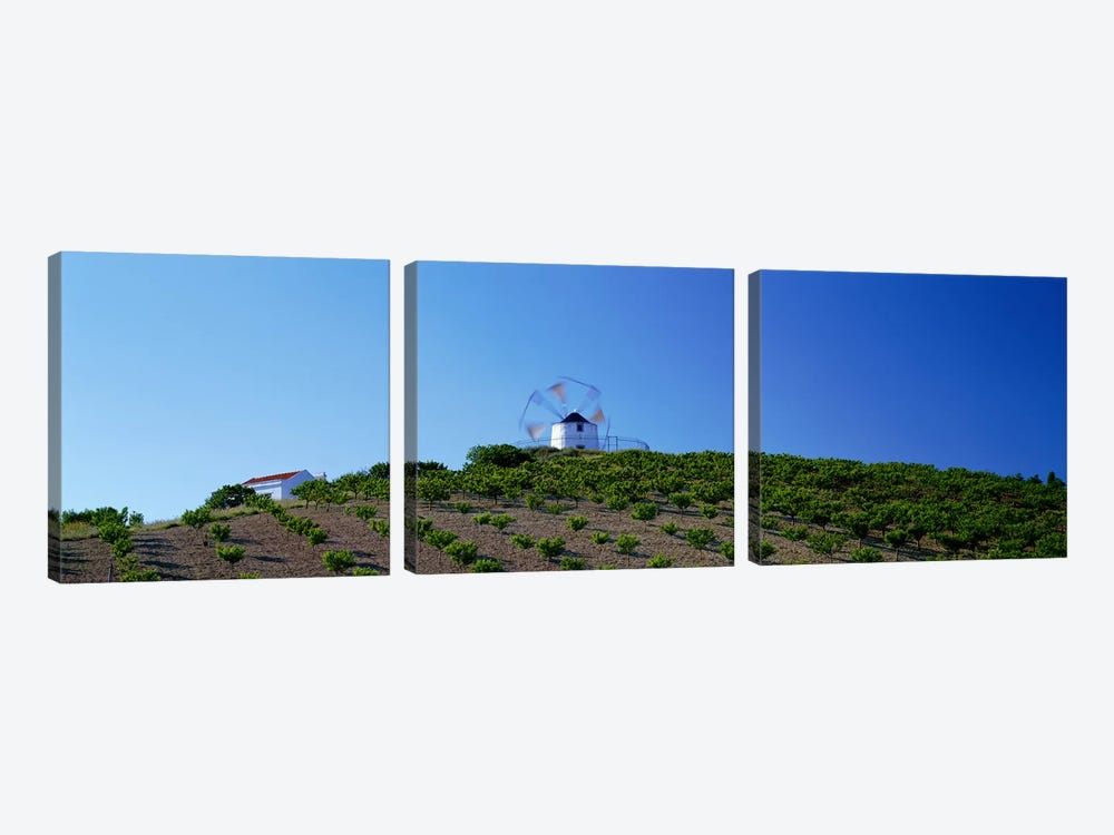 Windmill Obidos Portugal by Panoramic Images 3-piece Canvas Art Print
