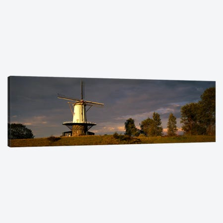 Windmill Veere Nordbeveland The Netherlands Canvas Print #PIM3906} by Panoramic Images Canvas Artwork