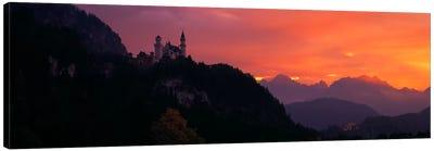 Neuschwanstein Palace Bavaria Germany Canvas Print #PIM390