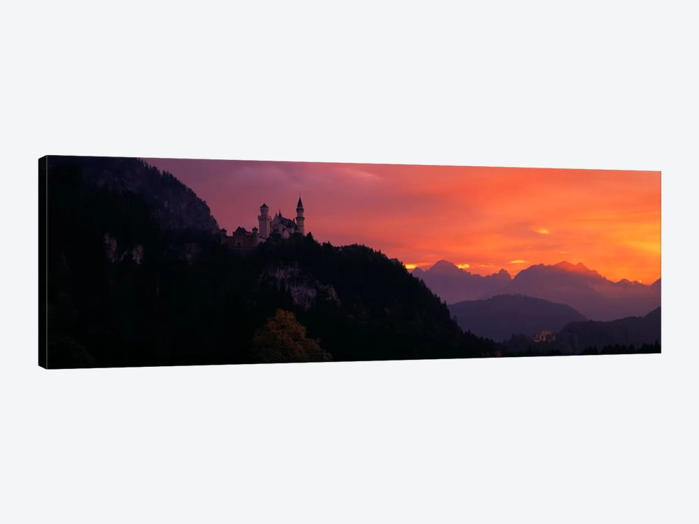 Neuschwanstein Palace Bavaria Germany by Panoramic Images 1-piece Canvas Print
