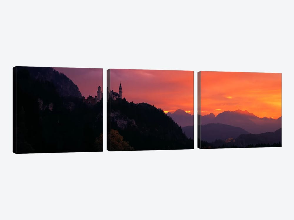 Neuschwanstein Palace Bavaria Germany by Panoramic Images 3-piece Art Print