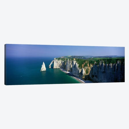 Coastal Landscape, Etretat, Normandy, France Canvas Print #PIM3910} by Panoramic Images Canvas Art