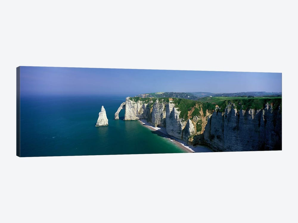 Coastal Landscape, Etretat, Normandy, France by Panoramic Images 1-piece Canvas Print