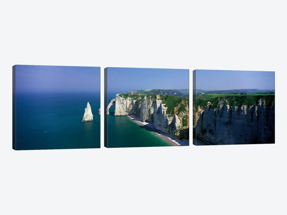 Coastal Landscape, Etretat, Normandy, France by Panoramic Images 3-piece Canvas Art Print