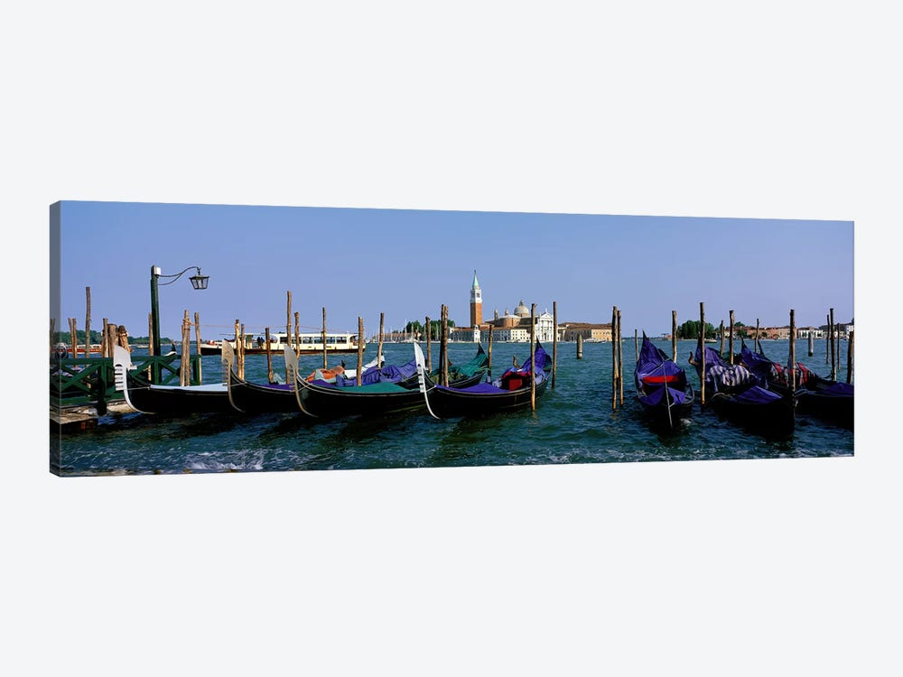 Church of San Giorgio Maggiore and Gondolas Venice Italy by Panoramic Images 1-piece Canvas Artwork