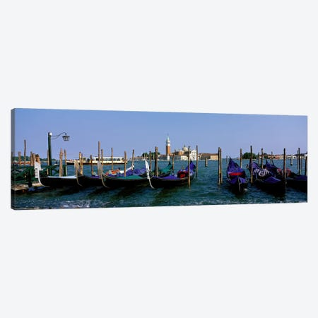 Church of San Giorgio Maggiore and Gondolas Venice Italy 3-Piece Canvas #PIM3915} by Panoramic Images Canvas Print